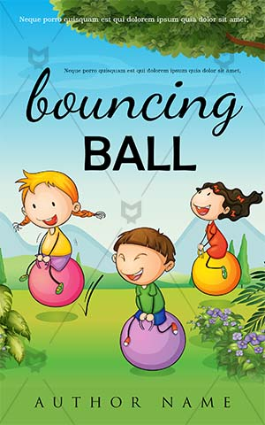Children-book-cover-kids-playing-ball