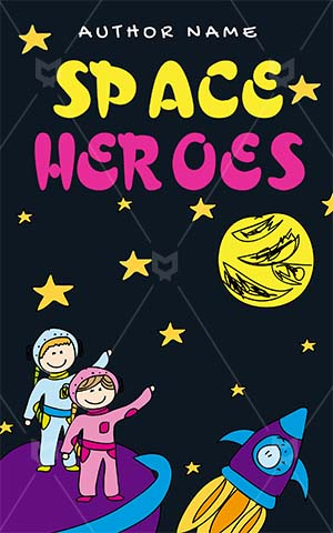 Children-book-cover-kids-space-night-sky