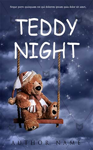 Children-book-cover-teddy-night-sky