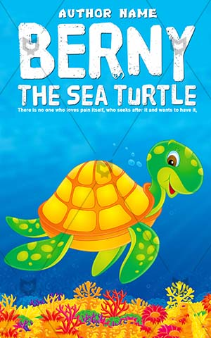 Children Book Cover Turtle Berny Kids