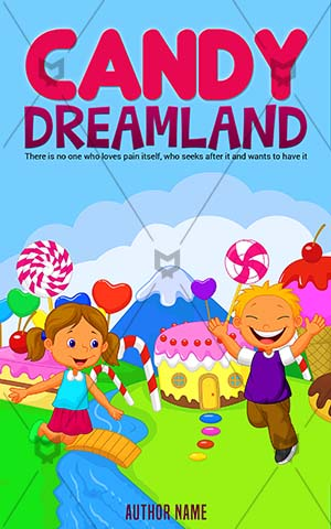 Children-book-cover-candy-kids-dreamland
