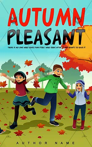 Children-book-cover-autumn-kids-playing