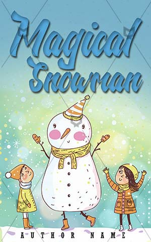Children-book-cover-kids-fun-snowman-