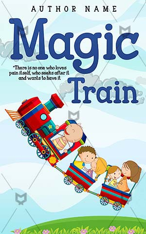 Children-book-cover-train-kids-magic