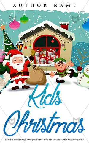 Children-book-cover-Christmas-kids-snow-gift-home