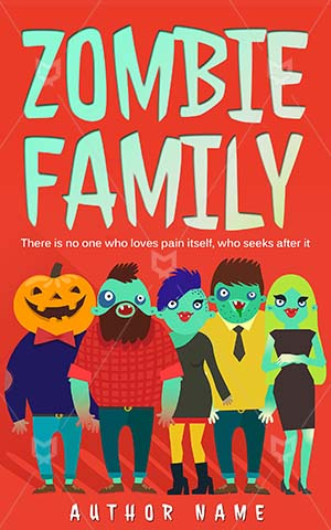 Children-book-cover-zombie-cartoon-family