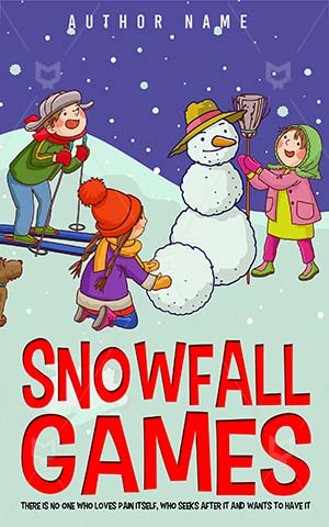 Children-book-cover-kids-play-snowball