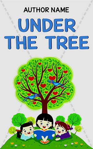 Children-book-cover-kids-under-tree-story