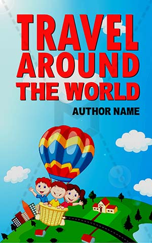 Children-book-cover-adventure-kids-balloon-travel-sky
