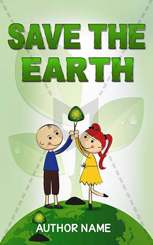 Children-book-cover-earth-environment-save-plantation