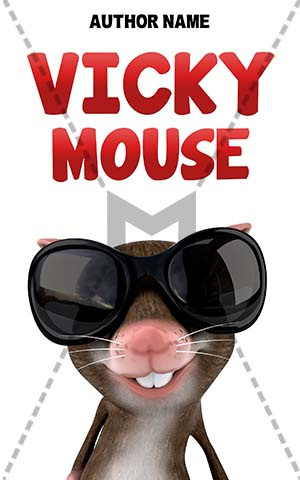 Children-book-cover-funny-mouse-happy