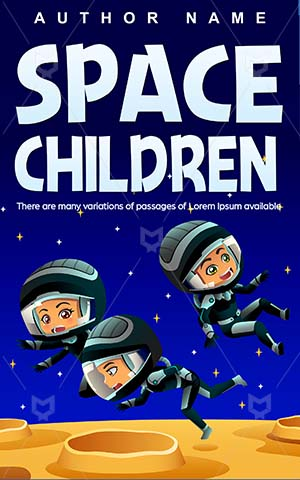 Children-book-cover-Having-fun-Space-Kids-Moon-Astronaut-Vector-Book-design-kids-Outdoors-Friendship-Youth-Cartoon-Earth-Planet