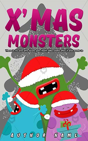 Children-book-cover-Christmas-Monster-Colorful-Monsters-Illustration-Laughing-Design-for-kids-Cartoon-Creature