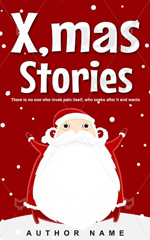 Children-book-cover-Claus-Santa-Christmas-Premade-christmas-covers-Vector-Noel-White-X-mas-claus