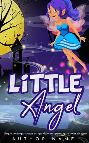 Children-book-cover-Cute-Flying-Tower-Fairy-Castle-Angel-Little-Magic-Scary-Princess-Kids-Story-Night-Time-Book