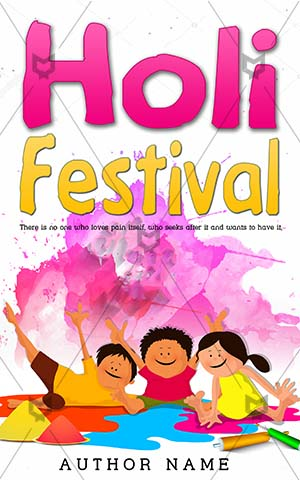 Children-book-cover-Fun-Cute-kids-playing-Books-covers-for-Kids-Happy-holi-Colorful-Celebration-Decoration-Event-Holiday-Religious-India