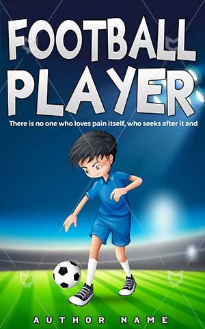 Children-book-cover-Game-Sport-Activity-Play-Football-covers-Vector-Field-Sports-Player-Kids-ideas-Train-Athlete