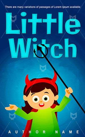 Children-book-cover-Girl-Little-Fun-Witch-Kids-Trick-or-treat-Story-for-kids-Happy-halloween