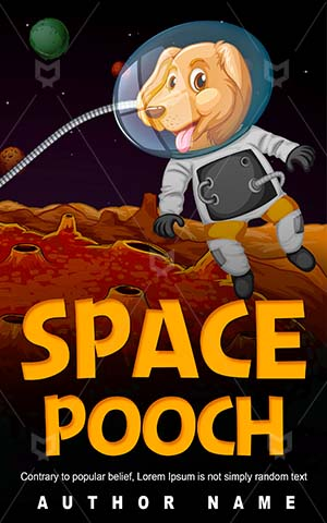 Children-book-cover-Golden-retriever-Vector-Space-Dog-Animal-Solar-Cartoon-Puppy-Kids-Planet-Astronomy-Exploration