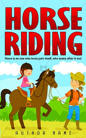 Children-book-cover-Lesson-Horse-Riding-riding-Activity-covers-Fun-Illustration-Happy-Helmet-Learning-Ride-Ranch-Teaching