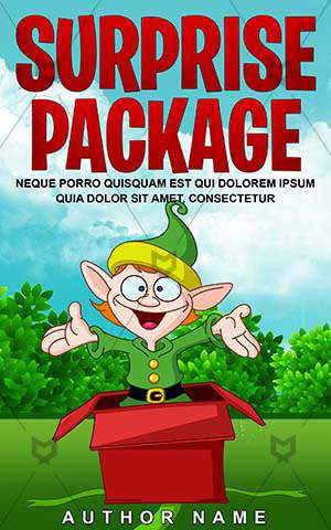 Children-book-cover-Pixie-Christmas-Surprise-Clipart-Happy-Fairytale-elves-Kids-Holiday-Little