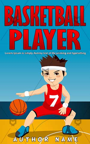 Children-book-cover-Play-Ball-Basket-Active-Cover-kids-play-Basketball-Team-sport-Vector-Sports-covers-Game-Happy
