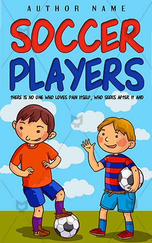 Children-book-cover-Players-Kids-Soccer-Sport-Play-Game-Vector-Ball-Cutout-Friendship-Preschool-Walking-players