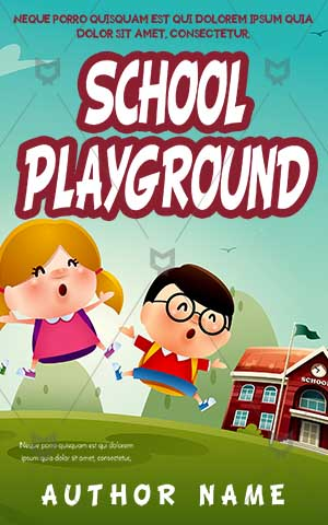Children-book-cover-school-playground-kids-playing