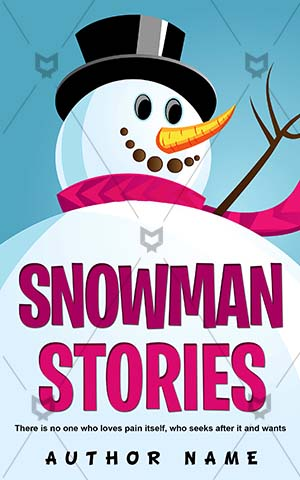 Children-book-cover-Snowball-Smiling-Vector-Book-with-snowman-on-Cartoon-Joyful-Holiday-Childrens-designs-Stories-Snowman
