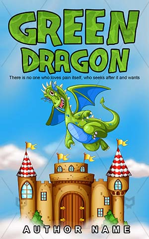 Children-book-cover-Vector-Fairy-Tale-Creature-Dragon-covers-Green-Story-design-Flying-Sky