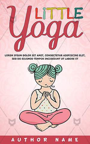 Children-book-cover-Yoga-Colored-Teenager-Kids-Little-Child-Painting-Sitting-Illustrator-Vector-Lifestyle