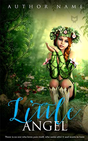 Fantasy-book-cover-kids-forest-flower-girl