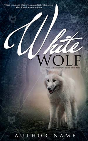 Fantasy-book-cover-alone-scary-forest-wolf