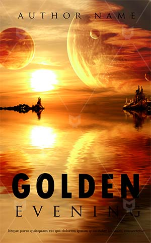 Fantasy-book-cover-sky-river-planets-sun