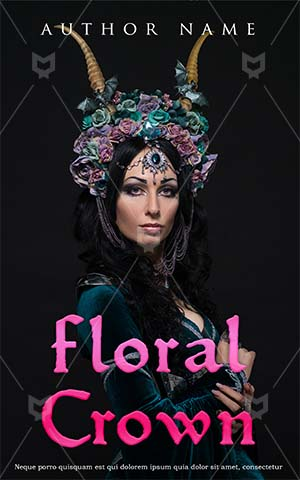 Fantasy-book-cover-woman-flower-scary-fiction