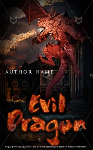Fantasy-book-cover-dragon-fire-city-scary
