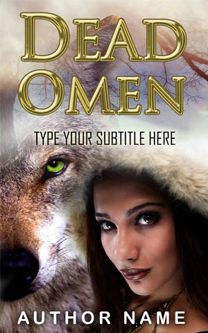 Fantasy-book-cover-wolf-Omen-witch-dead
