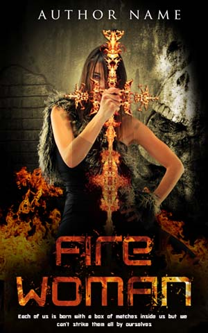 Fantasy-book-cover-zombie-horror-hunter-fire-witch
