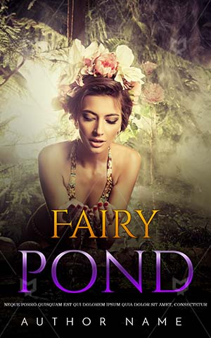 Fantasy-book-cover-Beautiful-Woman-Princess-Freshness-Rain-forest-Water-pond-Sensual-Caucasian