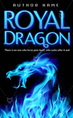 Fantasy-book-cover-Blue-Fire-Dragon-fire-Book-dragon-Illustration-Monster-Medieval-flames-Flames-Dragons
