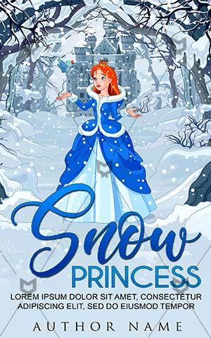 Children-book-cover-Clipart-Woman-Snow-Princess-Fantasy-Winter-Cartoon-Fairy-Book-for-kids-Queen-Crown