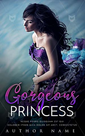 Fantasy-book-cover-Flower-Princess-Book-Cover-Embrace-The-Romance-River-Purple-Dress-Forever