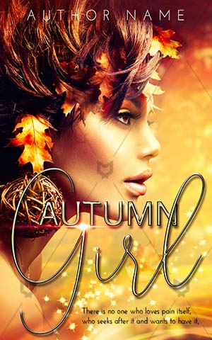 Fantasy-book-cover-gold-woman-girl-flower-autumn