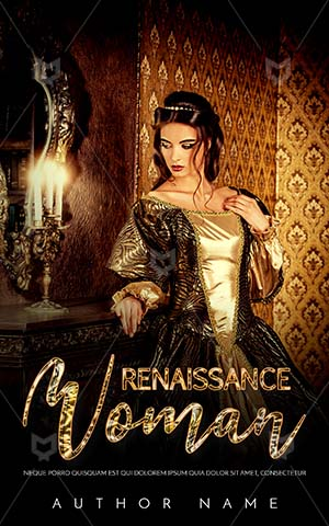 Fantasy-book-cover-Golden-Dress-Candle-Luxury-Woman-Book-fantasy-Cover-Design-Princess-Premade-Covers