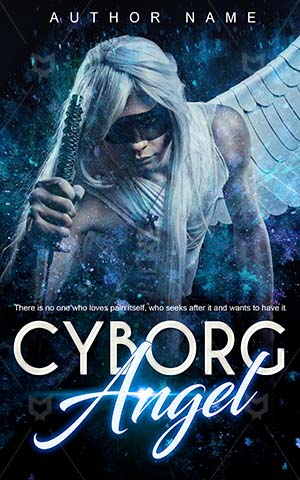 Fantasy-book-cover-Heaven-Guardian-Angel-Premade-fantasy-covers-Girl-Wing-Cyborg-Blue-angel-Dark