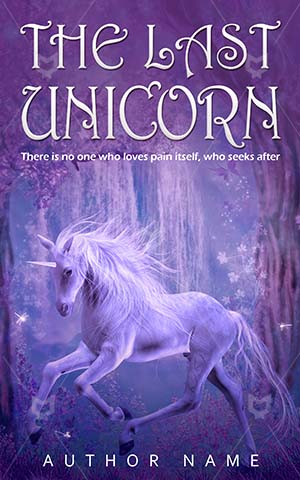Fantasy-book-cover-Horse-Unicorn-Last-Sparkle-Water-Animal-Pink-Star-Unique-Lighting-covers