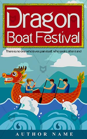 Fantasy-book-cover-Illustration-Chinese-Boat-Dragon-boat-festival-Premade-covers-fantasy-Competition-Vector-Celebration-Outdoors-Tradition