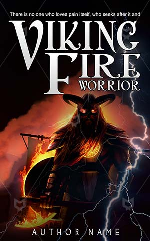 Fantasy-book-cover-Illustration-Fire-God-Viking-King-Ancient-Angry-Iron-Ship-Shield-design-Warrior-Barbarian