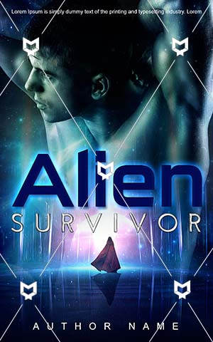 Fantasy-book-cover-Man-Strong-Alien-Male-Pretty-Beautiful-design-Survivor