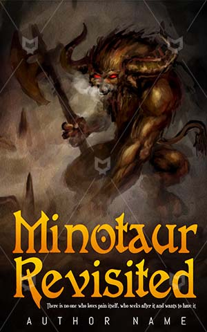 Fantasy-book-cover-Minotaur-Premade-covers-fantasy-Giant-Axe-Bull-Evil-Illustration-Large-Monster-Greek-Culture